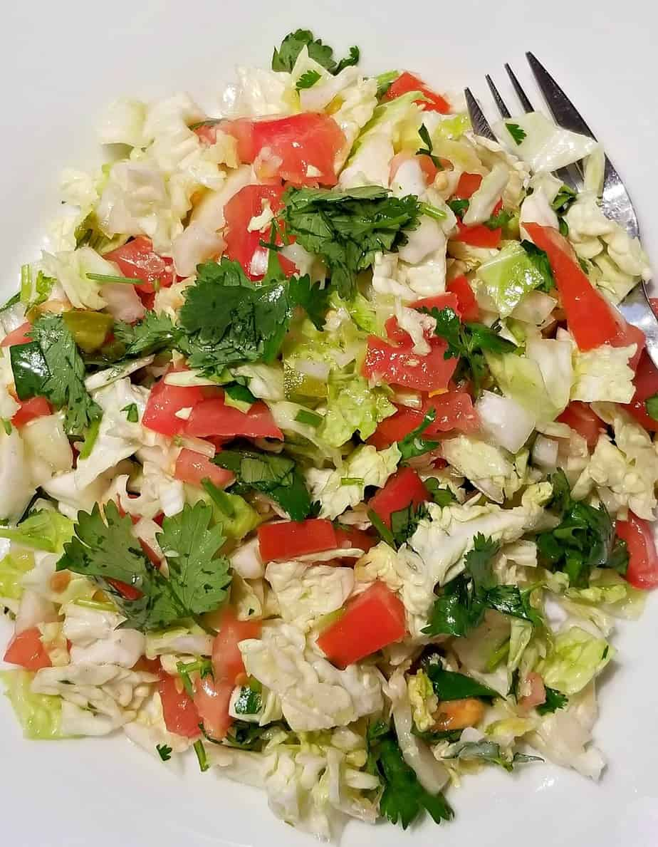 Cabbage Tomato Salad