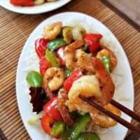 Black Pepper Shrimp Stir Fry