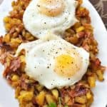 Eggs and Black Forest Ham Hash Browns