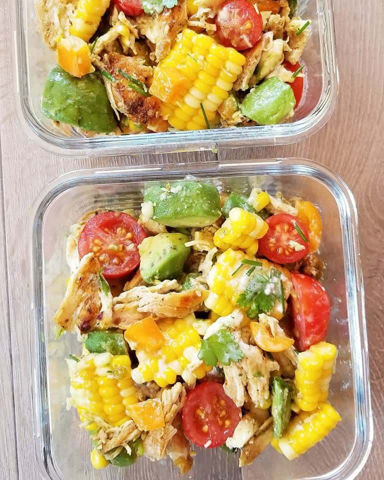 Corn on the Cob Salad Meal Prep Bowls