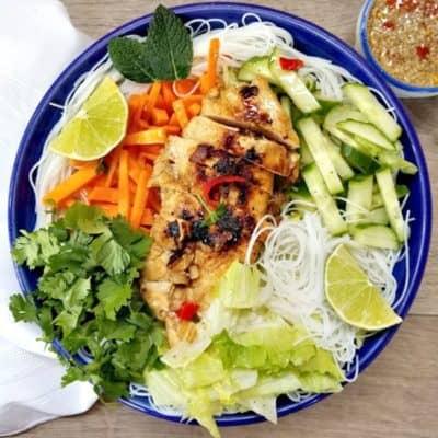 Vietnamese Chicken Vermicelli Bowl