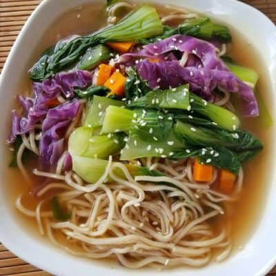 Vegetarian Lo Mein Noodles