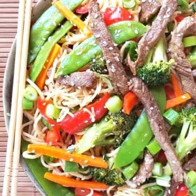 Beef and Vegetable Ramen