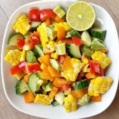 Vegan Corn On The Cob Salad
