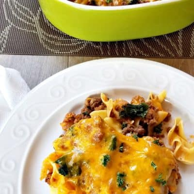 Beef Noodle Casserole with Kale