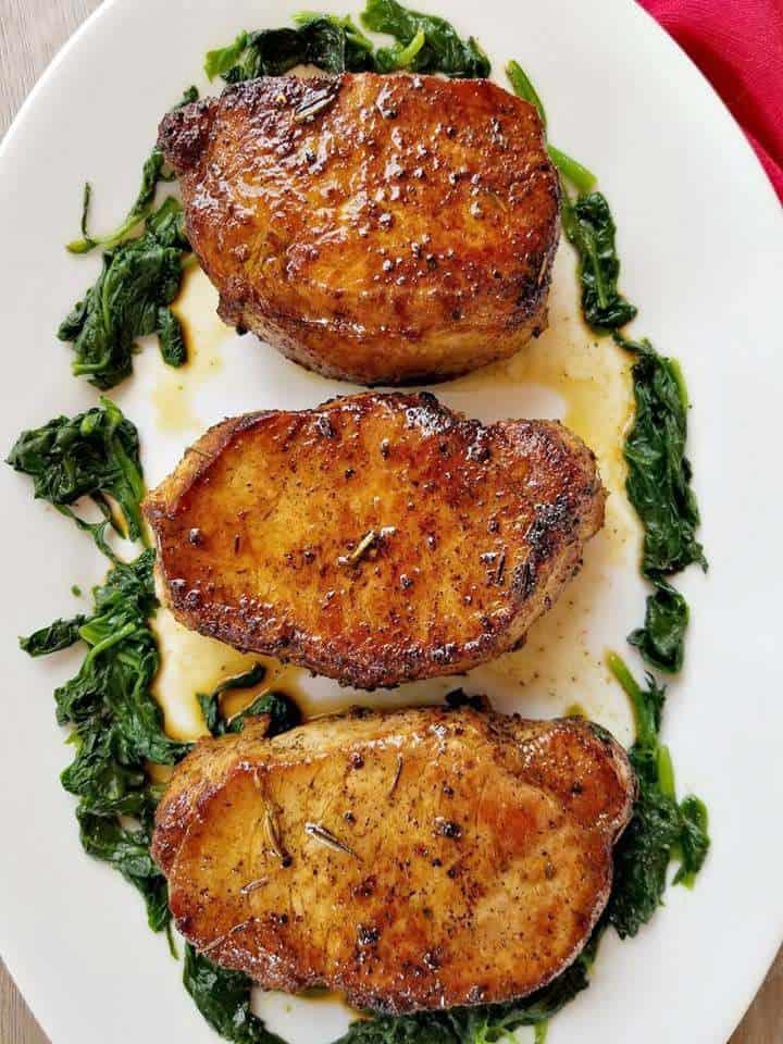 Rosemary Pork Chops with Peach Salsa! #Rosemary #Pork#Chops #PORK #CHOPS #BONLESS #Peach #Salsa #RECIPE