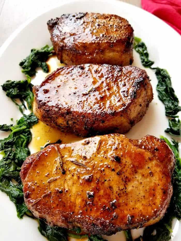 Rosemary Garlic Butter Pork Chops