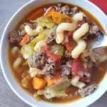 Hearty Hamburger Macaroni Soup