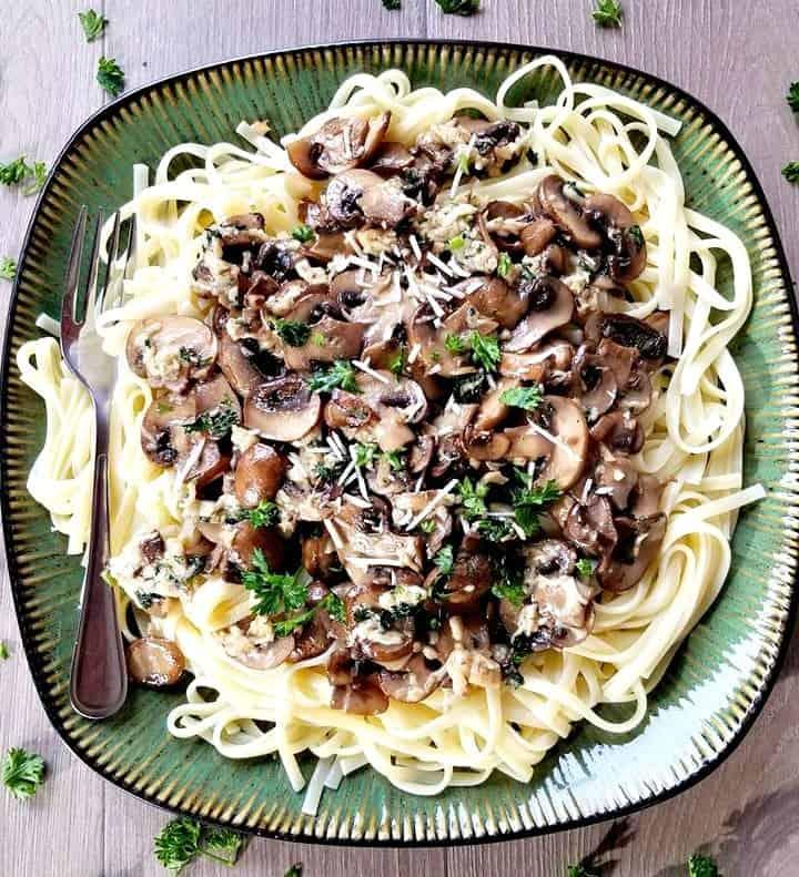 Mushroom Parmesan Fettuccine