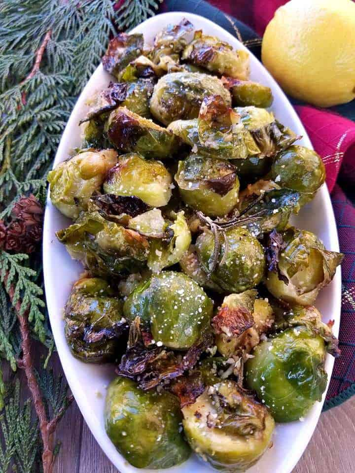 Parmesan Rosemary Brussel Sprouts