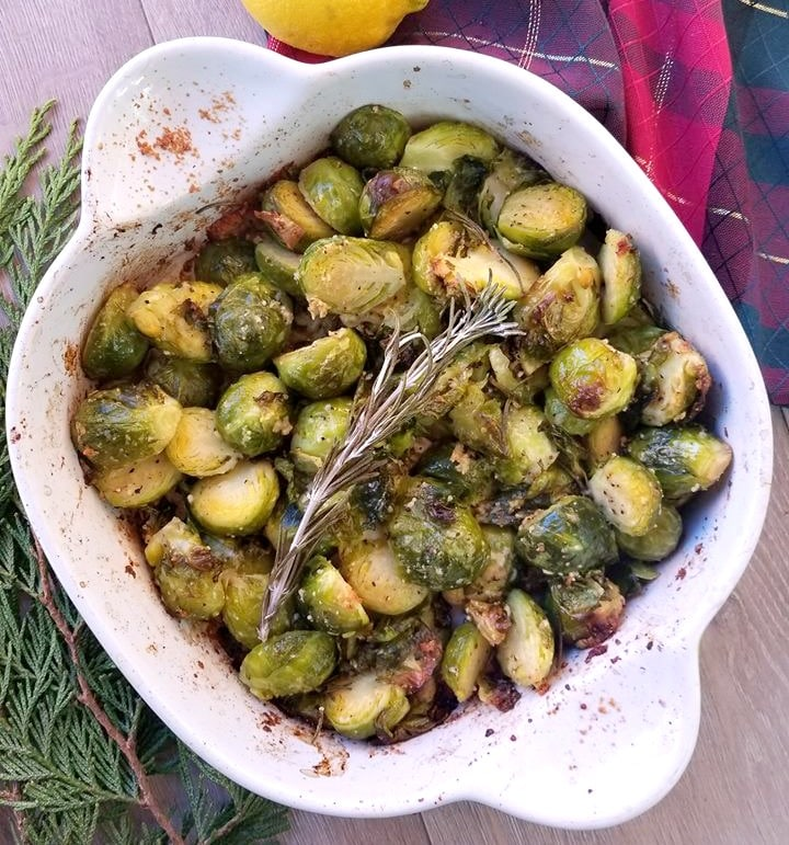 Parmesan Garlic Brussel Sprouts