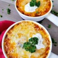Broiled Lasagna Soup