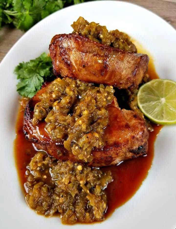 Salsa Verde Pork Chops