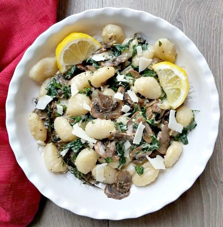 Parmesan Mushroom Kale Gnocchi