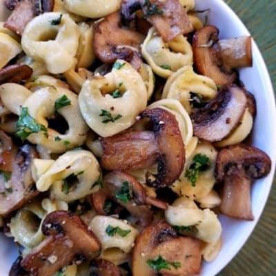 Mushroom Parmesan Balsamic Tortellini