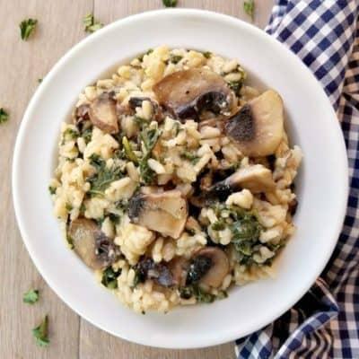Portobello Mushroom Kale Risotto