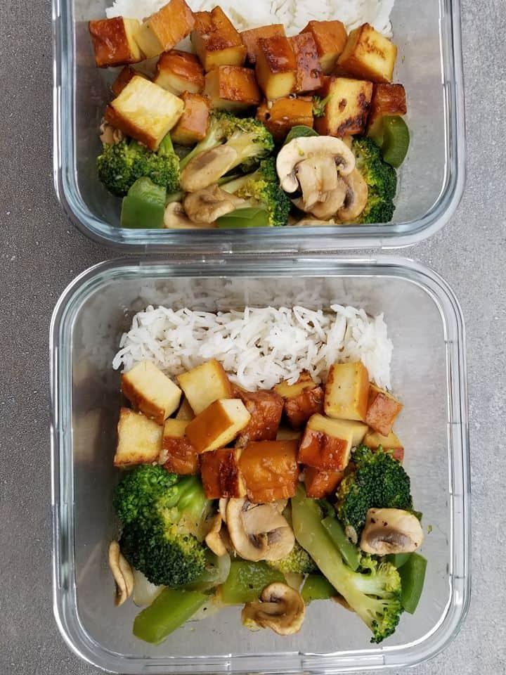 Smoked Tofu Meal Prep Bowls