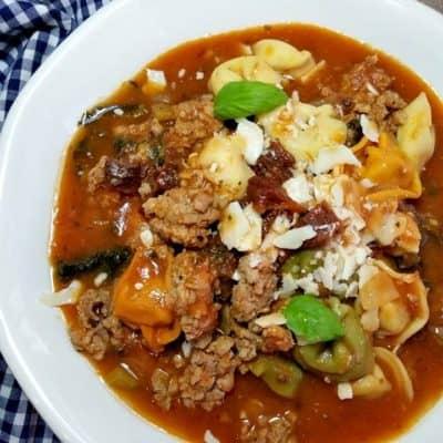 Parmesan Tortellini Kale Sausage Soup