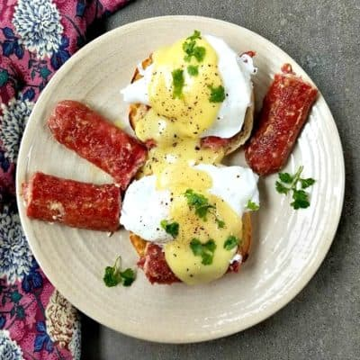 Farmers Sausage Eggs Benedict