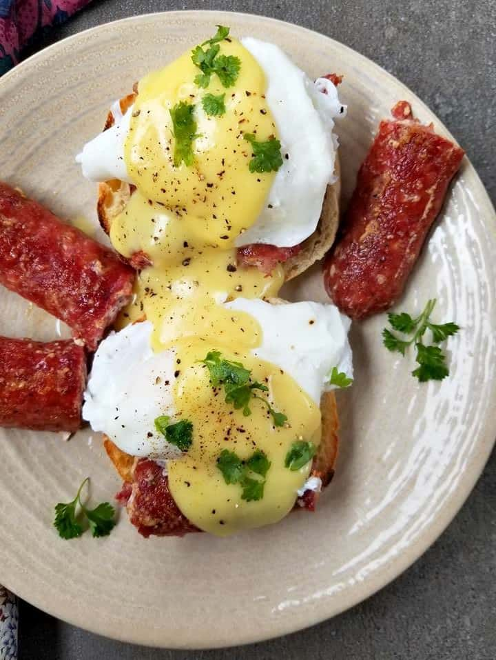 Farmers Sausage Eggs Benedict