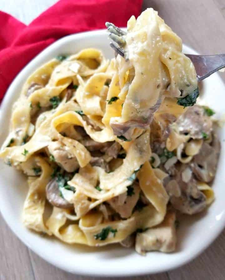 Chicken and Mushroom Pappardelle