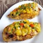 Chicken with Peach Salsa