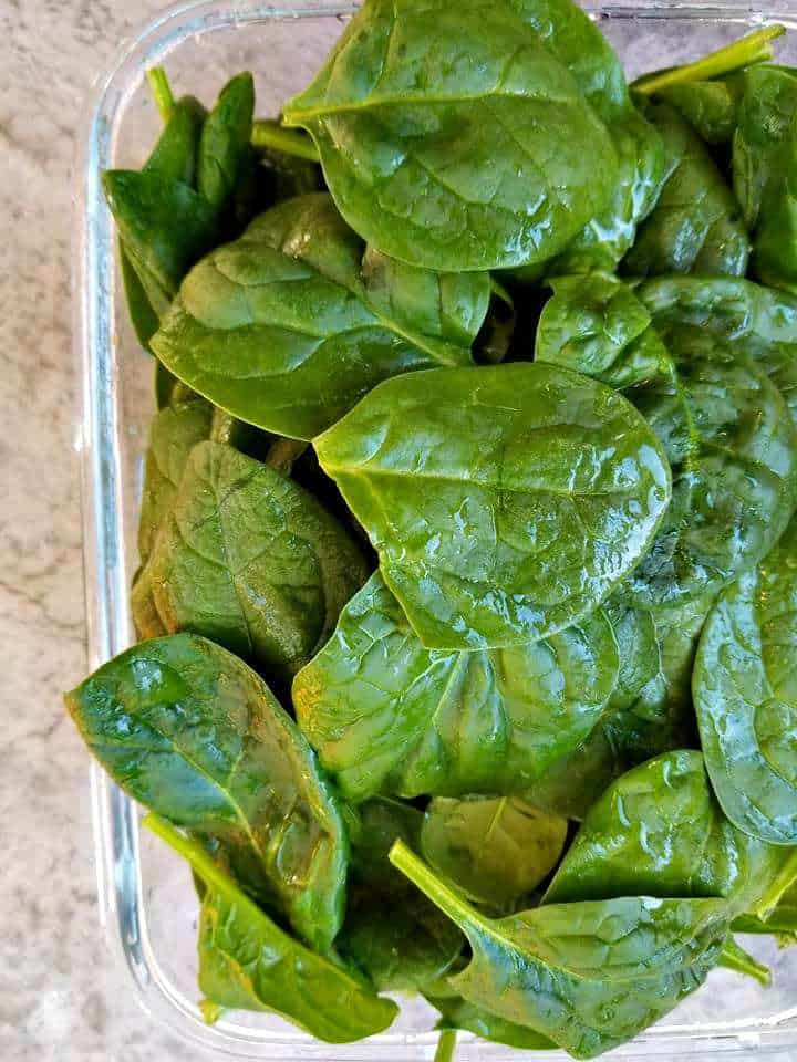 SPINACH FOR THE RAVIOLI
