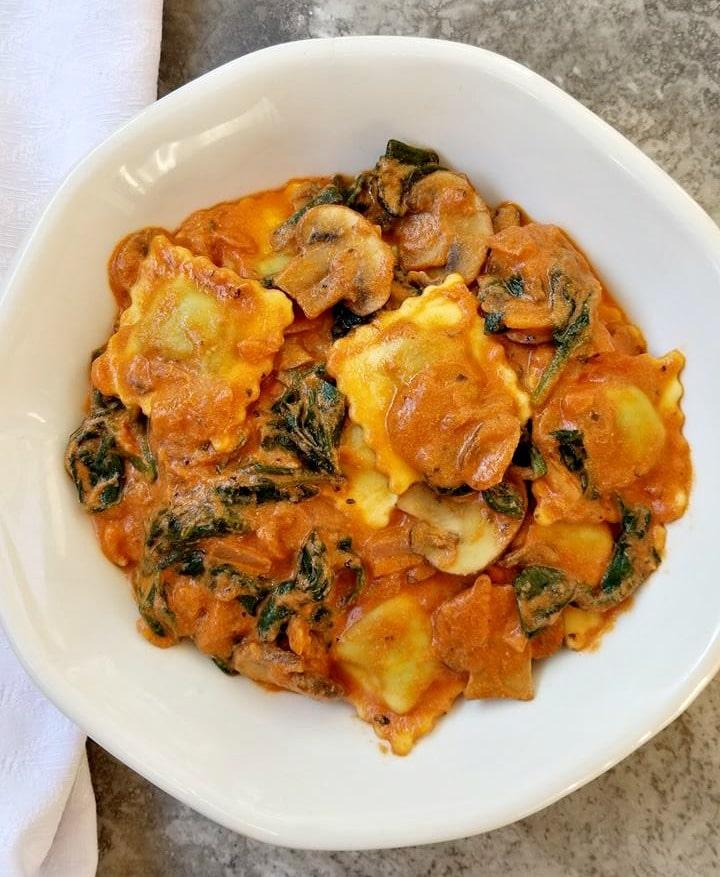 Mushroom Spinach Cheese Ravioli
