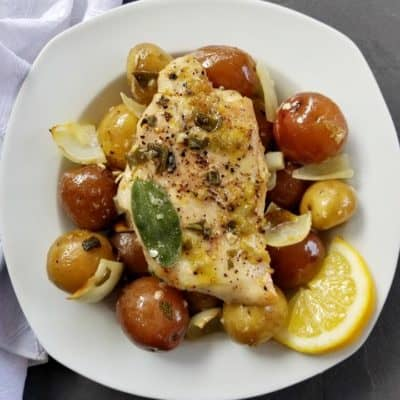 Easy Baked Lemon Chicken and Potatoes