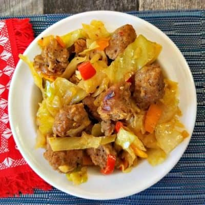 Sautéed Cabbage and Sausage