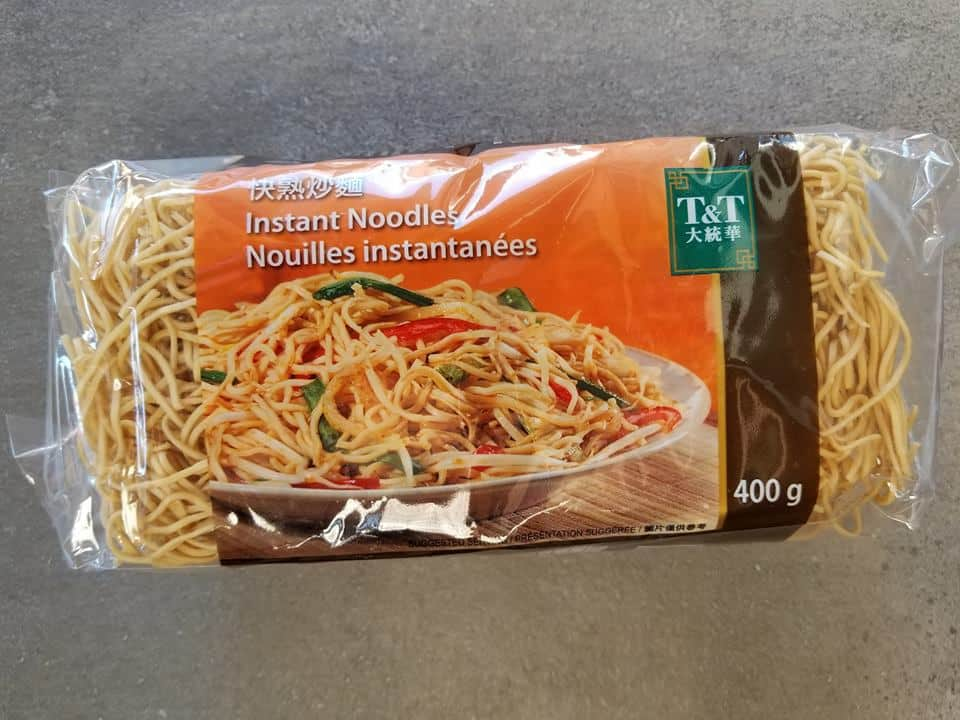 dried instant chow mein noodles