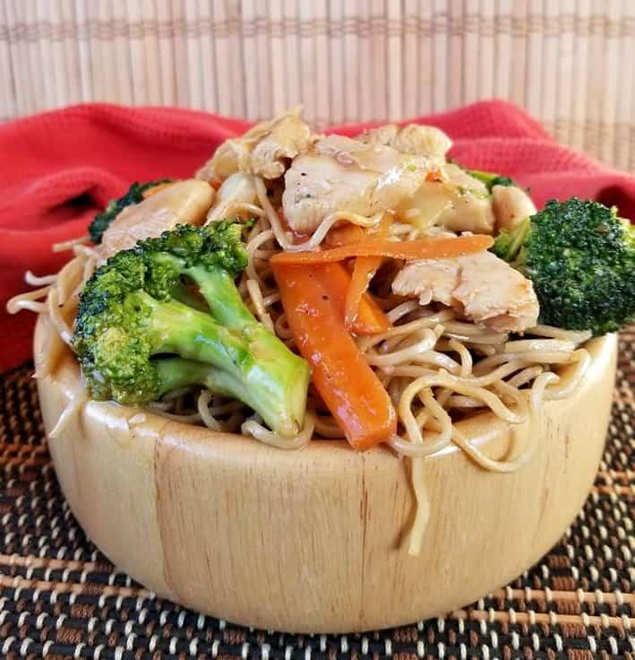 Easy Spicy Chicken Chow Mein
